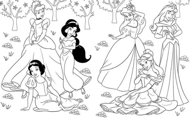 Tô màu 6 nàng công chúa Disney xinh đẹp