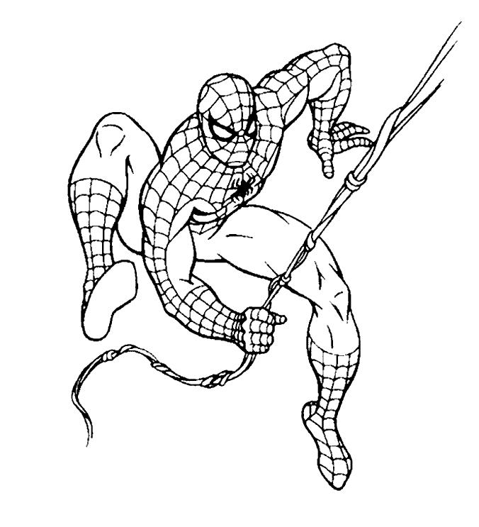 Tranh người nhện cho bé trai tập tô