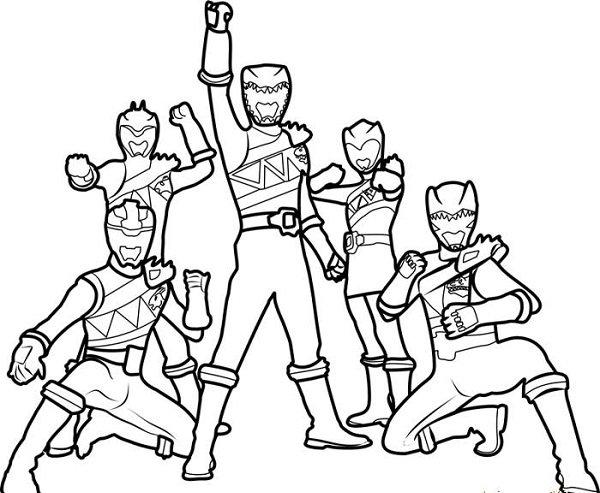 Tranh 5 anh em siêu nhân