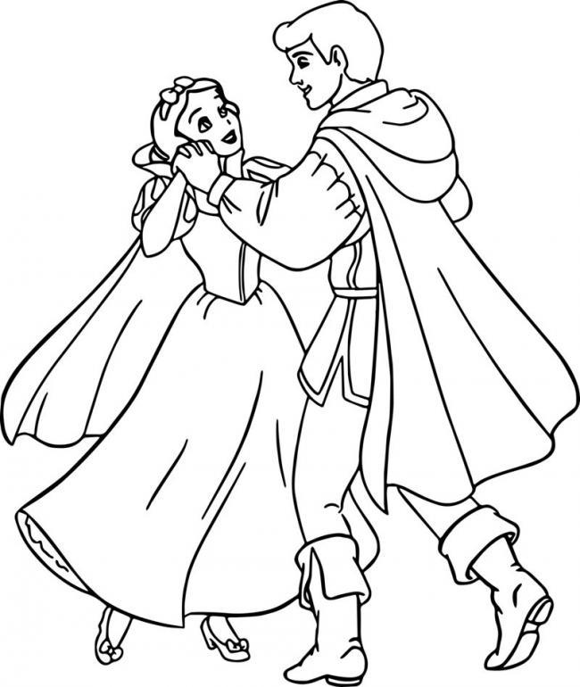 Bạch Tuyết hạnh phúc bên hoàng tử