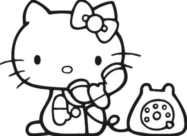 Tranh hoạt hình mèo Hello Kitty
