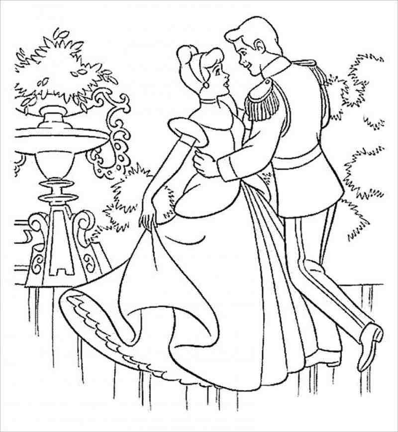Tô màu công chúa Lọ Lem cùng hoàng tử