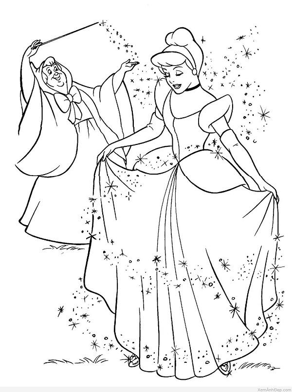 tô màu công chúa cùng ông tiên