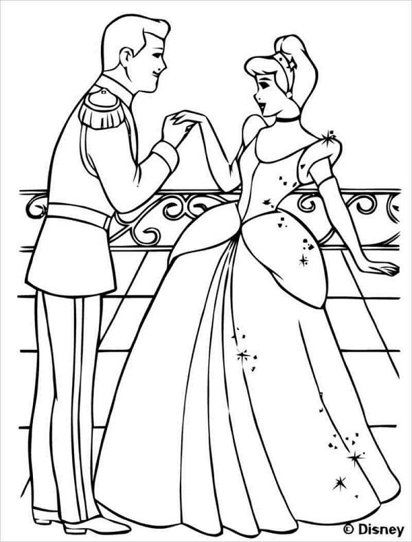 Tô màu công chúa Lọ Lem gặp hoàng tử
