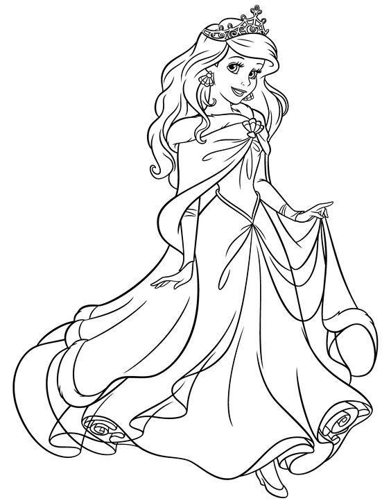 Tô màu công chúa Disney xinh đẹp