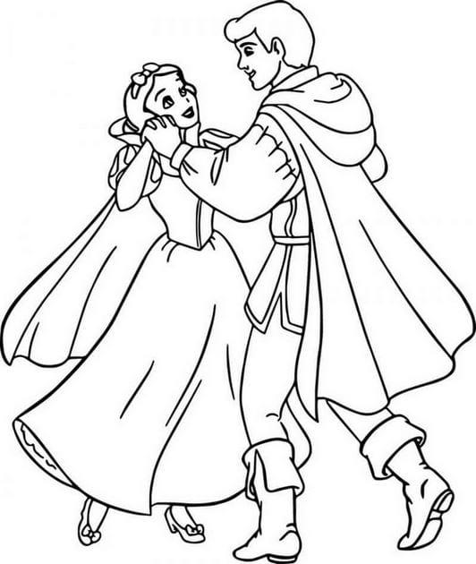 Tranh Bạch Tuyết và hoàng tử