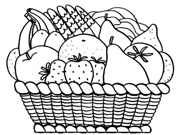 Tranh giỏ trái cây