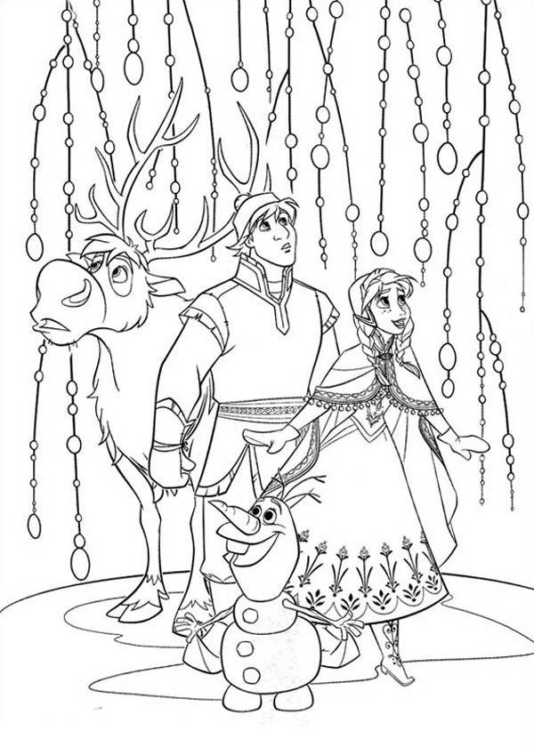 Tô màu công chúa Elsa cùng những nhân vật khác