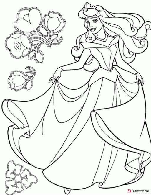 Tô màu công chúa Disney