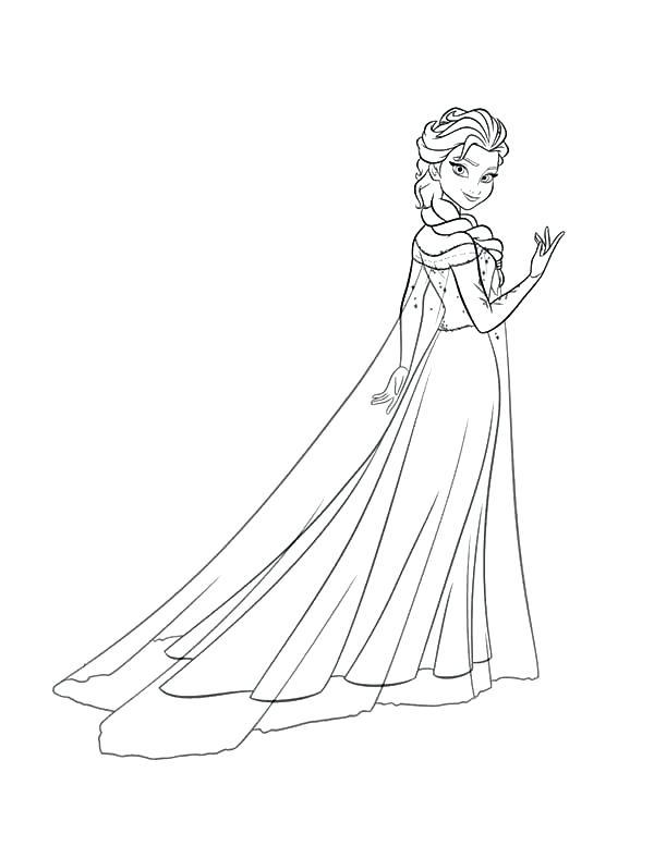 Công chúa Elsa xinh đẹp và dễ thương