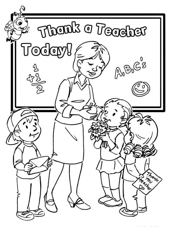 Hay tranh tô màu cô giáo và các bạn học sinh