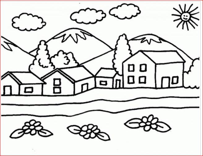 Tranh tô màu những ngôi nhà