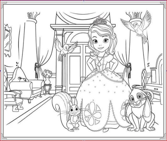 Tranh công chúa và những người bạn