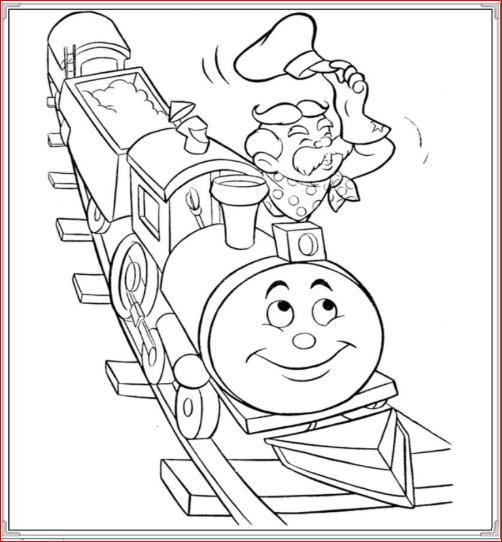 Tranh tô màu đoàn tàu cho trẻ