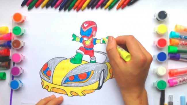 Tập tô màu giúp bé nâng cao sự tập trung