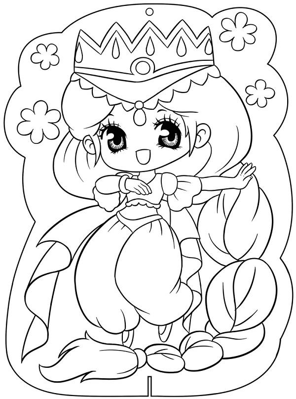 Công chúa Chibi với trang phục bắt mắt