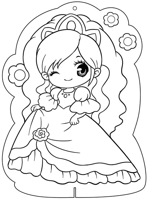 Công chúa Chibi với chiếc đầm xinh đẹp