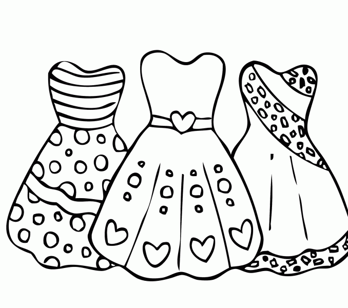 Tranh tô màu trang phục