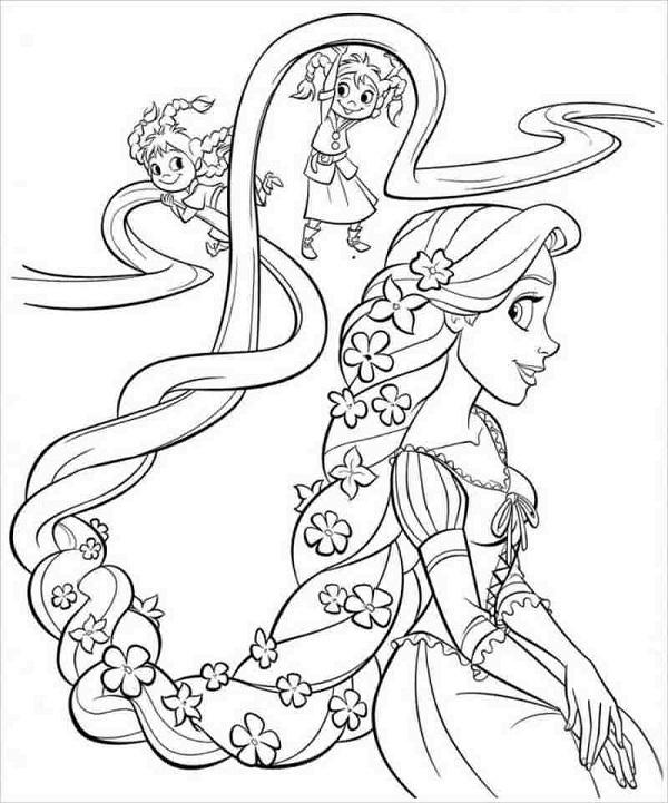 Công chúa tóc mây cực xinh xắn và dễ thương