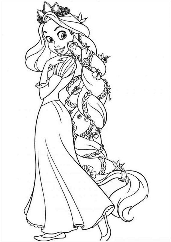 Mái tóc dài cực đẹp của công chúa tóc mây