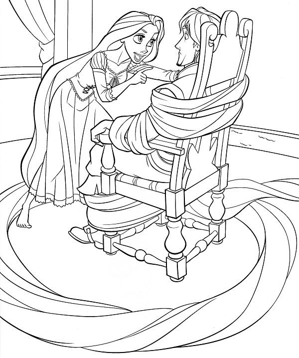 Công chúa tóc mây cùng với hoàng tử