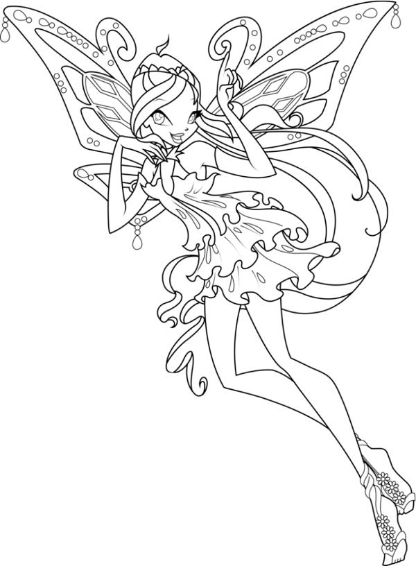 Công chúa Winx với đôi cánh bướm xinh đẹp