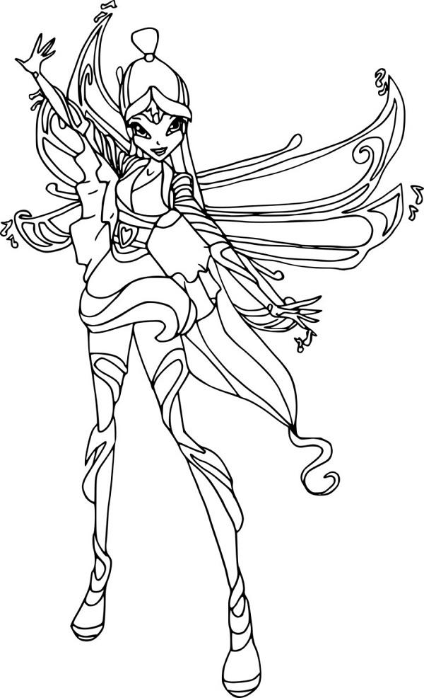 Công chúa Winx với cánh bướm sặc sỡ