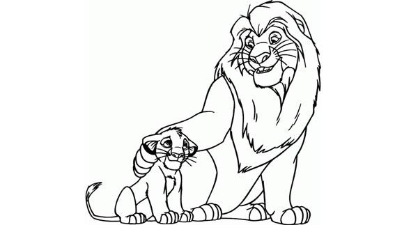 Tranh tô con sư tử