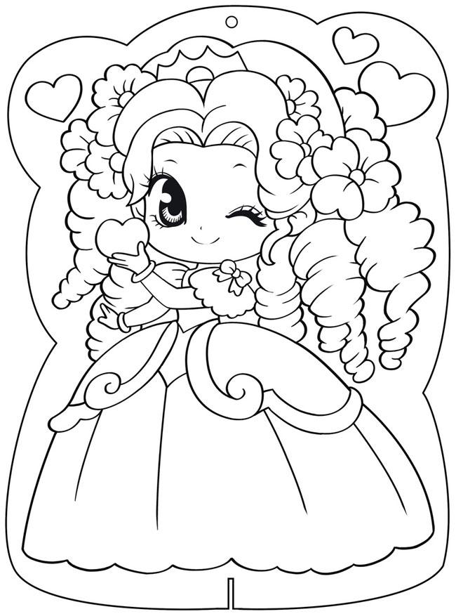 Tranh tô màu công chúa Ori