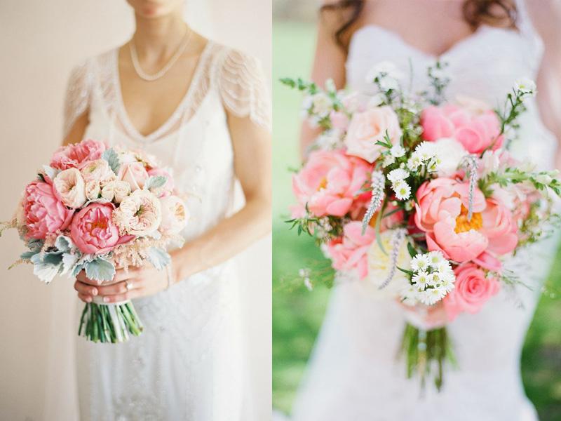 Hoa cưới kết bằng những đoá mẫu đơn