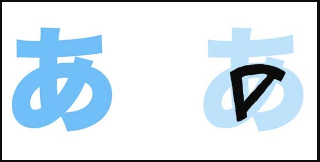 """あ được phát âm giống với chữ """"a"""" trong từ """"ba má"""" hay """"cái ca"""""""