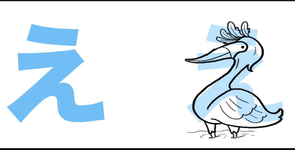 """え được phát âm là """"ê"""", giống như trong """"con bê"""" hay """"chê bai"""""""