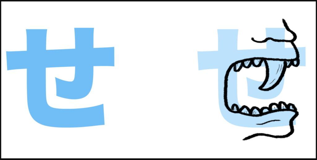 """せ là sự kết hợp của """"s"""" với âm """"え"""", tạo thành """"se"""""""