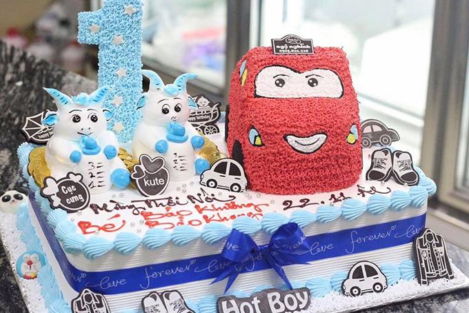 Bánh sinh nhật cho bé trai