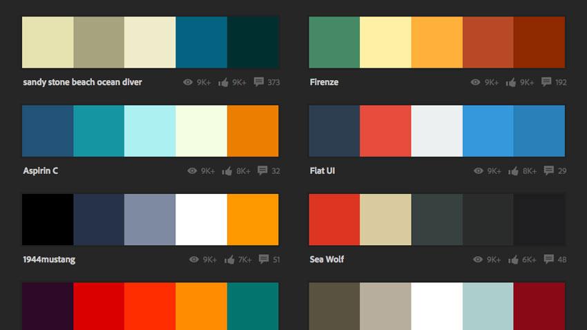 Bảng màu trong Adobe Color giúp bạn kết hợp màu sắc