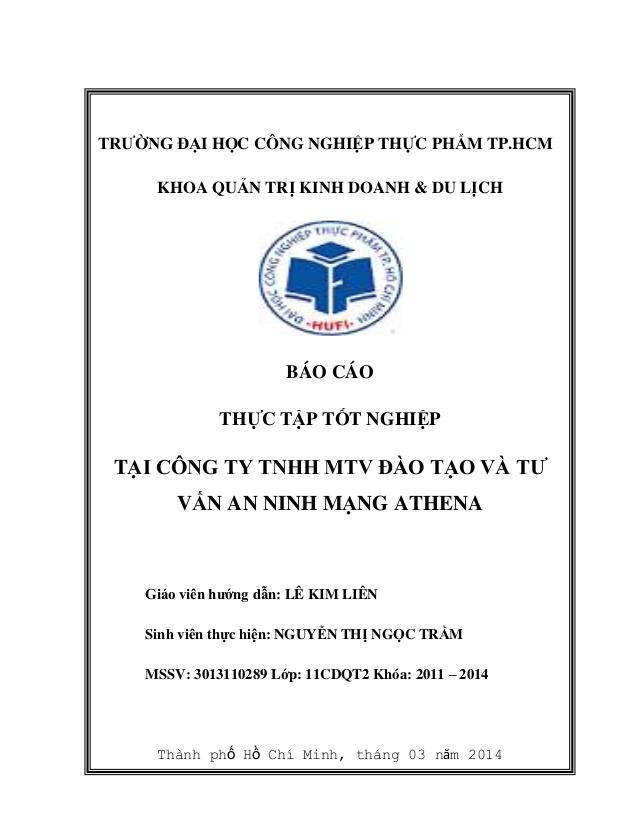 Bìa báo cáo thực tập tốt nghiệp đẹp