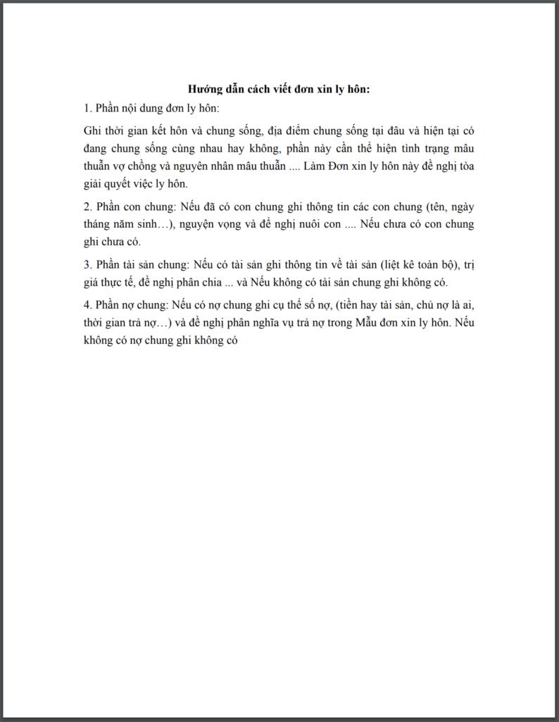 Cách viết đơn ly hôn đơn phương