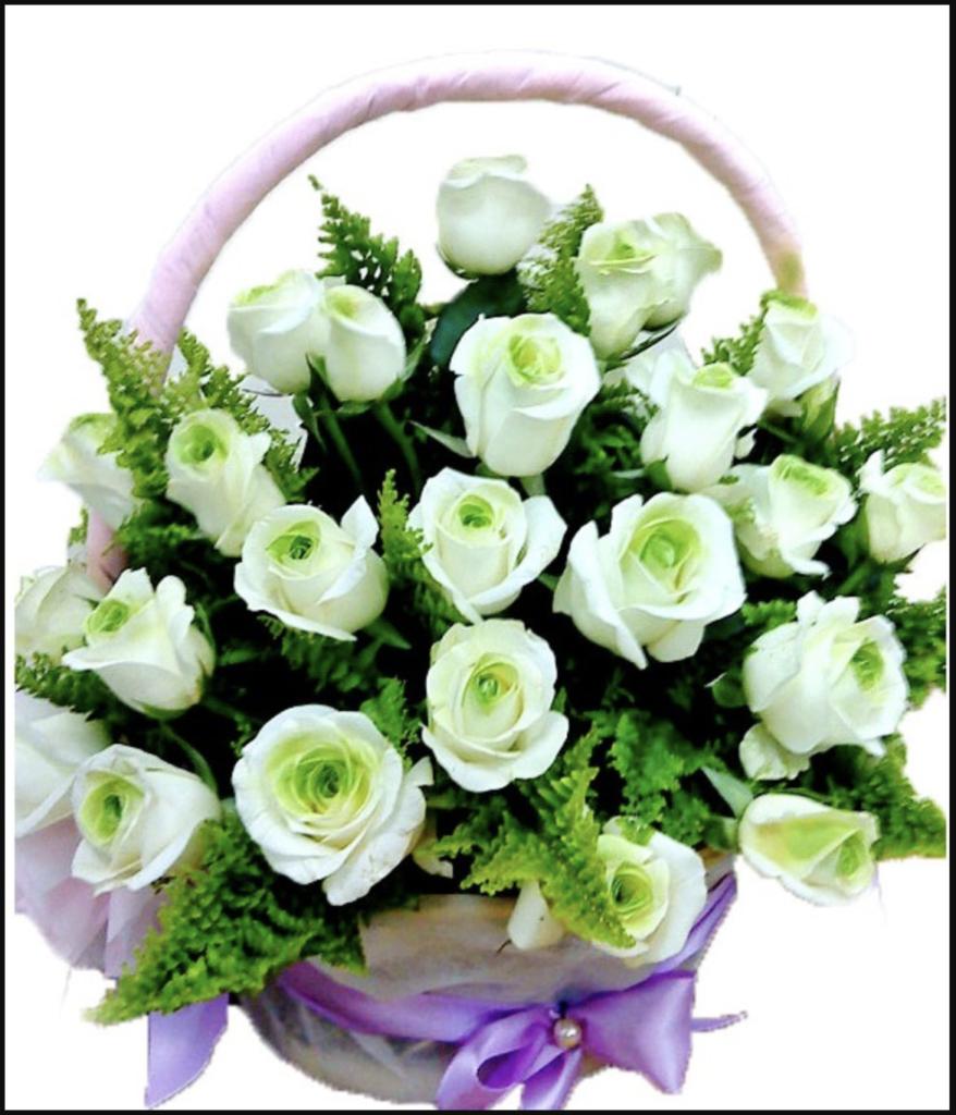 Lựa chọn hoa sinh nhật với màu trắng thuần khiết