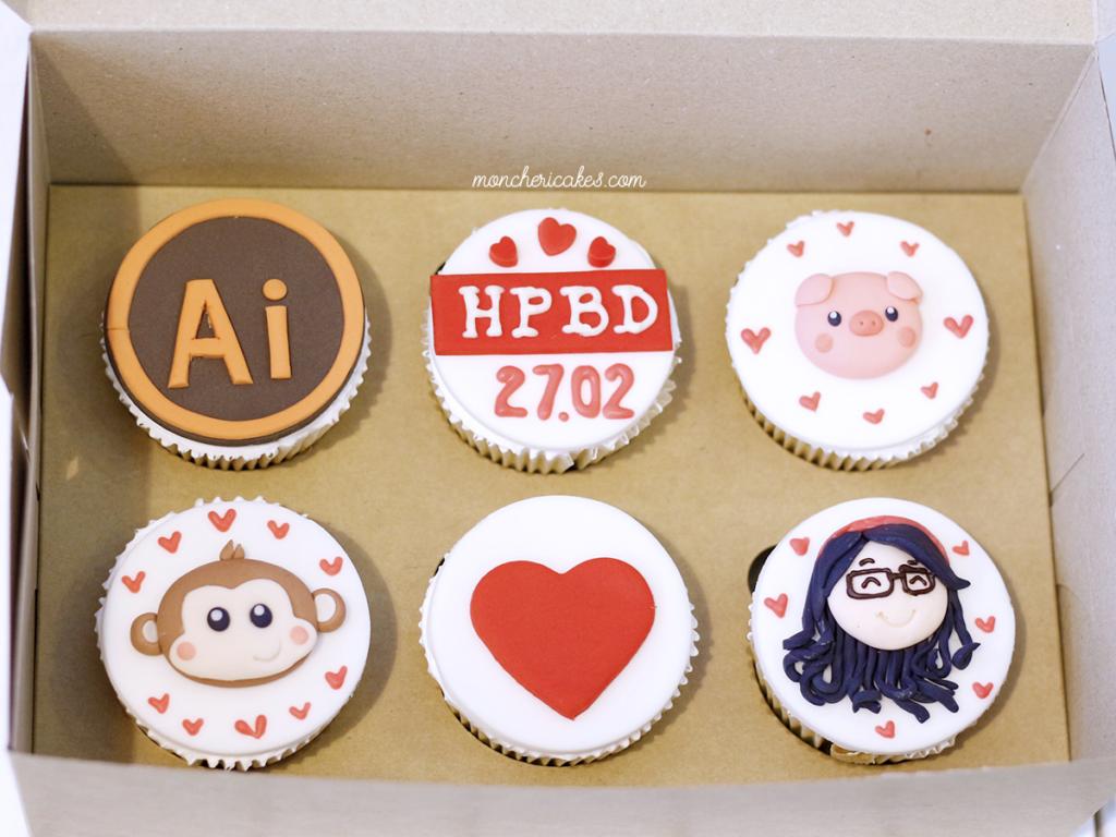 Mẫu bánh cupcake mừng sinh nhật cực kỳ đáng yêu