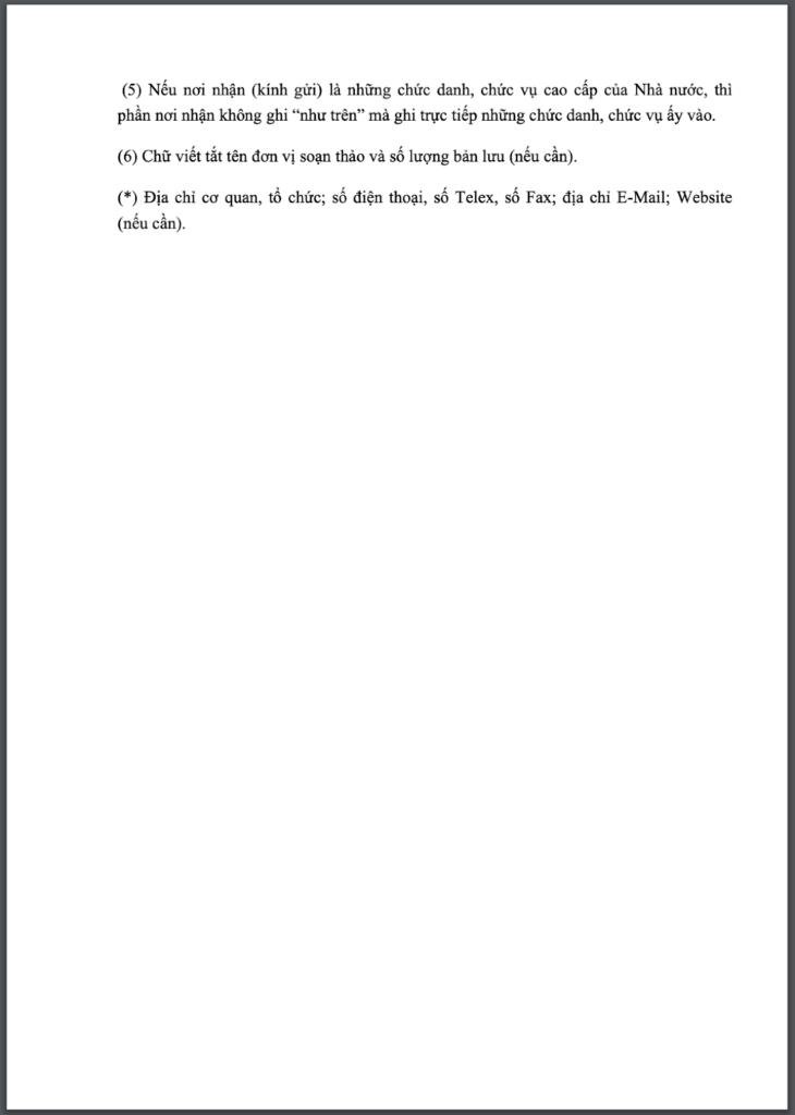 Mẫu công văn gửi đến một số đối tượng cụ thể