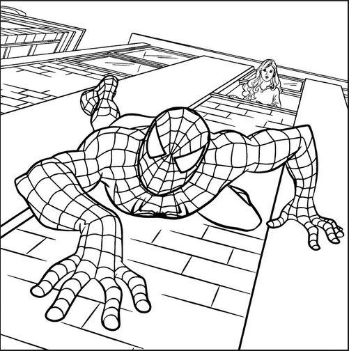 Người nhện trèo tường