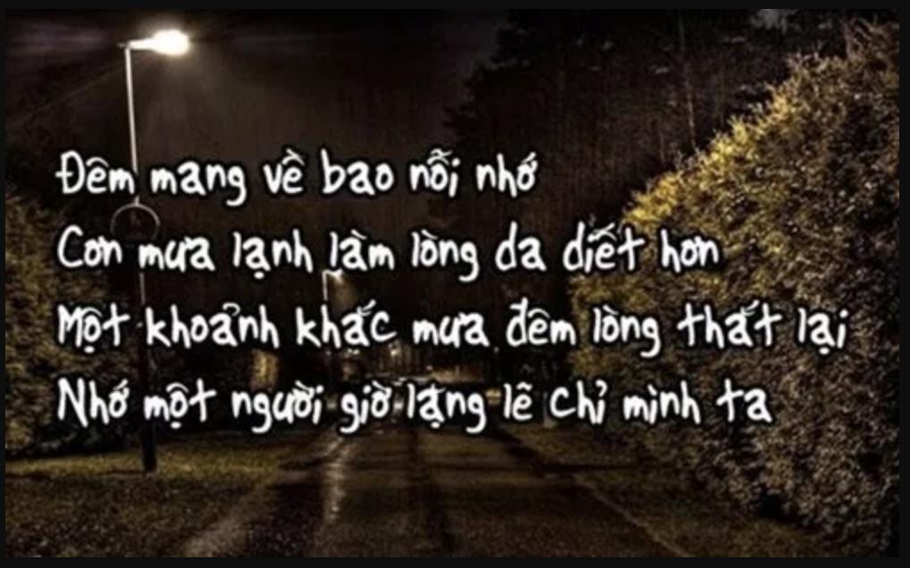 Nỗi buồn tình yêu khi về đêm