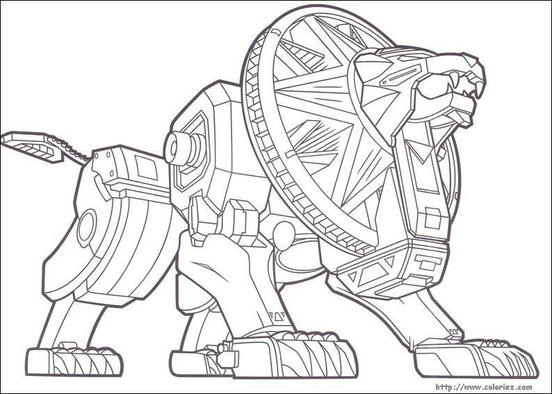 Tô màu robot biến hình sư tử