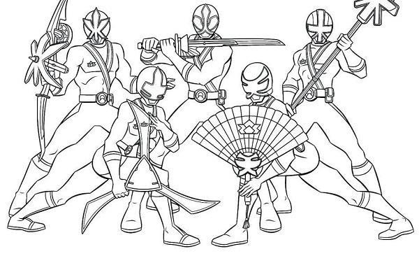 Tô màu siêu nhân Gao với nhiều tạo hình