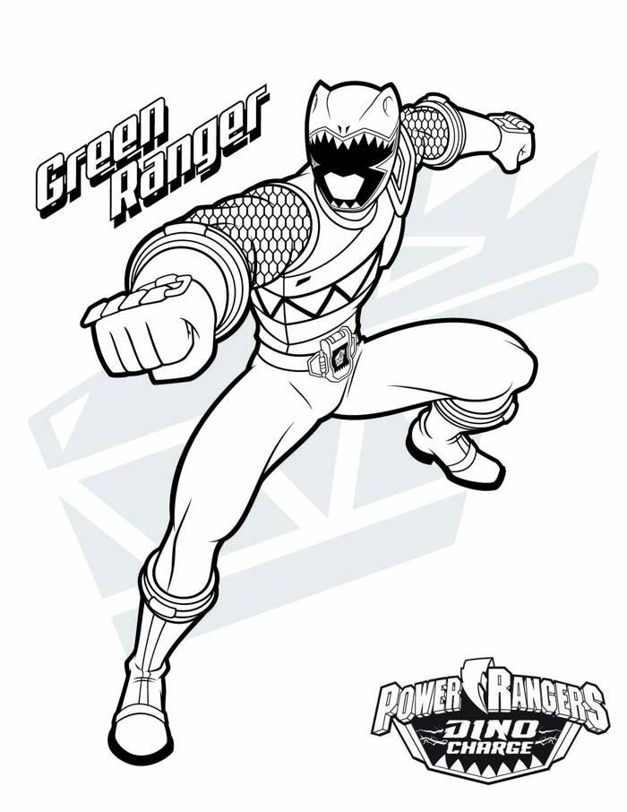 Tô màu siêu nhân Gao xanh lá