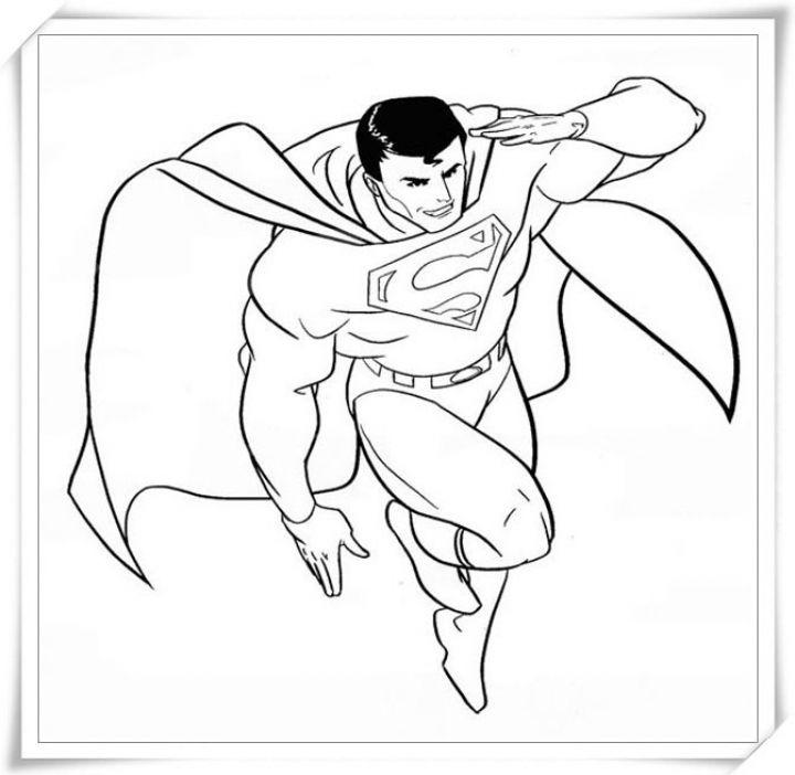 Tô màu superman đẹp mắt