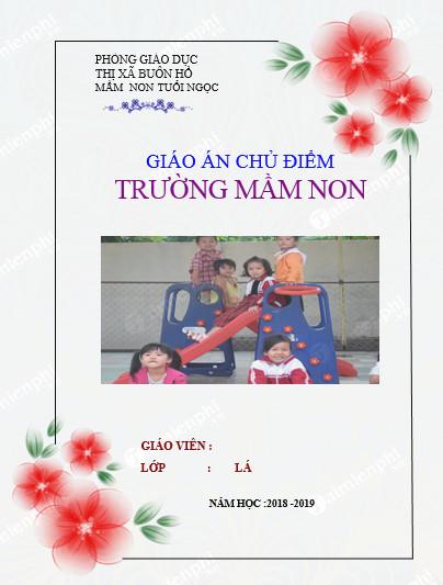 Trang bìa cho giáo án mầm non
