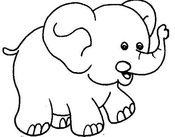 Tranh tô màu chú voi ngộ nghĩnh