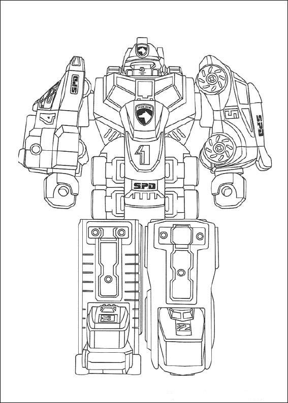 Tranh tô màu robot biến hình cực đẹp