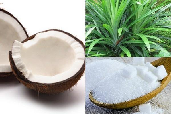 Nạo vỏ dừa và rửa sạch với nước